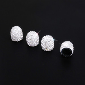 4 Stück / Los Diamantventilkappe, kreativ modifizierte Autoreifenkappe, Diamantventilkernkappe