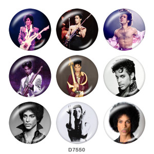 20MM  Famous  music   Print   glass  snaps buttons