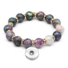 1 buttons With  snap crystal Elasticity  bracelet fit18&20MM  snaps jewelry