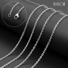 La cadena de cuerda de moda de acero inoxidable 80CM se adapta a todas las joyas