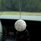 Auto Kristallkugel Anhänger Diamant Auto Rückspiegel voller Diamant Dekoration Ornamente mit Edelstahlkette