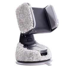 Soporte para teléfono móvil para automóvil con tachuelas de diamantes, salida de aire multifunción, soporte para navegación para automóvil, automóvil con ventosa, soporte giratorio para teléfono móvil