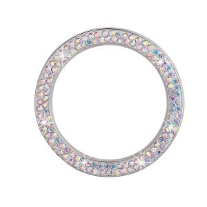 Arranque con un clic del coche pegatinas de anillo decorativo nueva cubierta del botón de encendido con incrustaciones de diamantes anillo decorativo de arranque de cristal del coche
