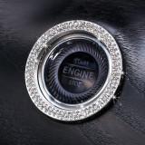 車のワンクリックスタート装飾リングステッカー新しいダイヤモンドがちりばめられたイグニッションボタンカバー車のクリスタルスタートイグニッション装飾リング