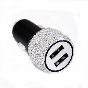 Новый алмазный автомобильный мобильный телефон безопасное зарядное устройство молоток двойной USB быстрая зарядка алмазный автомобильный мобильный телефон автомобильное зарядное устройство из алюминиевого сплава