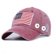 Amerikanische Flagge Sommer Sonnenschutz passen 18mm Druckknopf beige Peaked Kappe