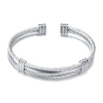 Brazalete de acero de titanio con alambre de resorte de cuatro colores, brazalete elástico de alambre de acero, brazalete de alambre de acero inoxidable