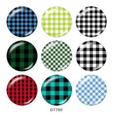 Botones a presión de vidrio con estampado de patrón de 20 mm