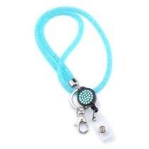 Nueva red de pesca con diamantes de imitación, cadena de teléfono móvil, cordón, marca de trabajo, collar, cordón, gancho, collar, 40 CM