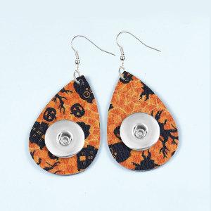 El pendiente a presión de cuero de Halloween se ajusta a la joyería del estilo de los broches de 20 mm