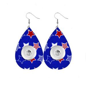 Pendiente a presión de cuero del Día de la Independencia que se ajusta a las joyas de estilo broches de 20 mm