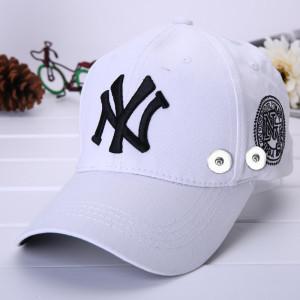 Yankees Sommer Sonnenschutzkappe passen 18mm Druckknopf beige