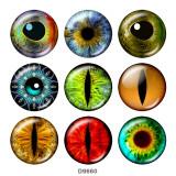 20MM   pattern  eye  Print   glass  snaps buttons