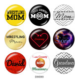 20MM  MOM  Print   glass  snaps buttons
