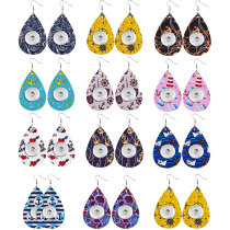 Anchor Leather Snap Earring Fit 20MM Snaps Style Schmuck