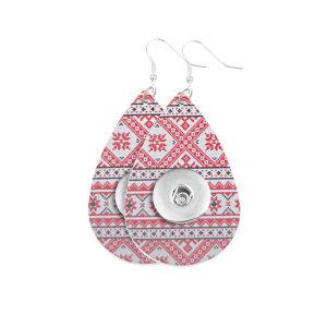 Pendiente a presión de cuero navideño apto para joyas de estilo broche de 20 mm