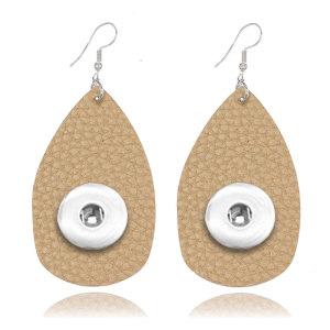 Pendiente a presión de cuero de color sólido apto para joyas de estilo broches de 20 mm