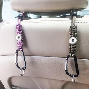 Llavero Gancho multifuncional Gancho para bolsa de coche apto para joyas de botón a presión de 18 y 20 mm