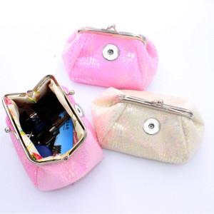 Фланелевый кошелек для монет с леопардовым принтом и кнопками Сумка для хранения Сумка-клатч для кусков 18 мм