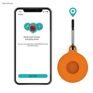 Adecuado para Apple airtags funda anti-perdida Apple tracker AirTags Case funda protectora de silicona carcasa protectora