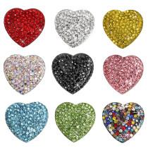 LIEBE Diamant Kühlschrankmagnet Kreativer Kristallglas Magnetischer Kühlschrankmagnet Herzförmiger Kühlschrankmagnet