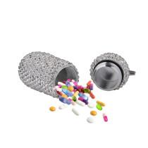 Kleine Medizinflasche aus Aluminiumlegierung mit Vollbohrmaschine Mini wasserdicht verschlossene kleine Medizinflasche aus Metall im Freien Tragbare kleine Medizinflasche aus Metall