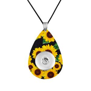 Sunflower Leather Halskette Kette verstellbare Passform 20MM Brocken schnappt Schmuck