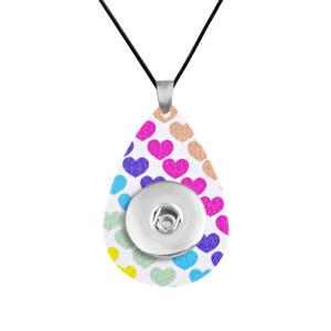 Cadena de collar de cuero de colores, ajuste ajustable, trozos de 20 mm, broches para joyería