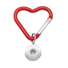 Брелок в форме сердца в форме сердца, многофункциональный крючок, крючок для документов, автомобильная сумка, крючок, подходит для 18 и 20 мм, ювелирные изделия с кнопками