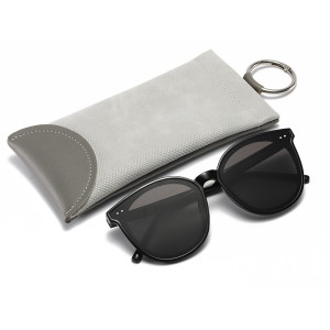 Bolso de gafas de sol de cuero de bala con patrón de serpiente de personalidad bolso de gafas de presbicia miopía de moda