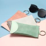 Persönlichkeit Schlangenmuster Kugel Leder Sonnenbrille Tasche Mode Myopie Presbyopic Brille Tasche