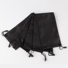 18 * 9CM lunettes noires sac en tissu lunettes de rangement sac sac à poussière