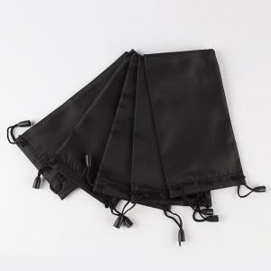 18 * 9 CM Gafas negras Bolsa de tela Bolsa de almacenamiento de gafas Bolsa de polvo