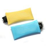 18 * 9CM Sonnenbrillentasche PU Leder Kugel Mund tragbare wasserdichte Brille Tasche Lagerung