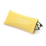 18 * 9CM Bolsa de gafas de sol PU cuero bala boca portátil gafas impermeables bolsa de almacenamiento