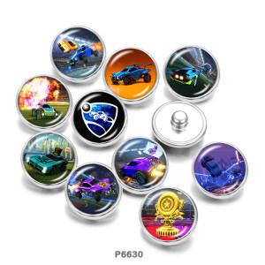 Botones a presión de vidrio con estampado de juegos de 20 mm