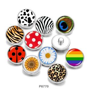 Стеклянные кнопки с принтом 20 мм