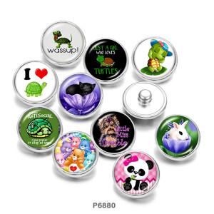 Стеклянные кнопки с принтом черепахи 20 мм