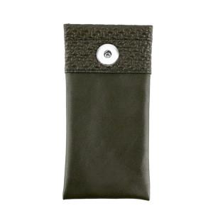 Кожаная сумка для очков 18 * 9 см персонализированная портативная портативная сумка для очков пыленепроницаемая и устойчивая к царапинам сумка для хранения очков подходит для ювелирных изделий Sanp с защелкой 18 и 20 мм
