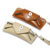 Gafas de sol resistentes a la compresión, caja de espejos, bolsa de gafas personalizada, bolsa de caja de gafas de sol de miopía apta para joyas de sanp con botones a presión de 18 y 20 mm