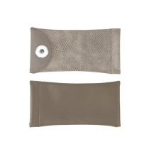 18 * 9CM personnalité imprimé serpent PU cuir élastique lunettes de soleil sac couleur unie mode myopie et presbytie lunettes sac en stock fit 18 & 20mm snap buttom sanp bijoux