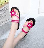 Zapatos de niña de 2 botones, pantuflas de niña, chanclas de mujer, sandalias de mujer, suelas gruesas de 3 cm de altura para un ajuste de playa de verano