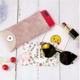 18 * 9CM Personality Snake Print PU elastisches Leder Sonnenbrillentasche einfarbige Mode Myopie und Presbyopic Brille Tasche auf Lager passen 18 & 20mm Snap Buttom Sanp Schmuck