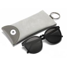 Personnalité motif serpent balle en cuir lunettes de soleil sac mode myopie presbytie lunettes sac fit 18 & 20mm snap buttom sanp bijoux