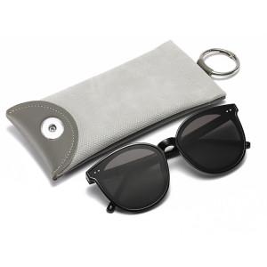 Personalidad patrón de serpiente bala gafas de sol de cuero bolsa moda miopía gafas presbicia bolsa ajuste 18 20 mm broche de presión botón sanp joyería