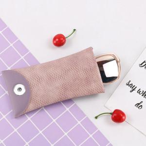 18 * 9 см индивидуальный змеиный принт из эластичной кожи из искусственной кожи сумка для солнцезащитных очков сплошной цвет модная близорукость и пресбиопическая сумка для очков на складе подходит для ювелирных изделий с кнопками 18 и 20 мм