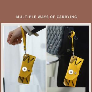 Устойчивые к сжатию солнцезащитные очки, коробка для зеркала, индивидуальная сумка для очков, сумка для солнцезащитных очков для близорукости, подходящая для 18 и 20 мм ювелирных изделий Sanp на кнопке