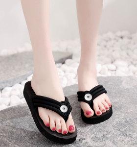 Zapatos de niña de 2 botones, pantuflas de mujer, chanclas de mujer, sandalias de mujer, suelas gruesas de 3 cm de alto para un ajuste de playa de verano