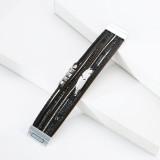 Crystal Feather Accessoire Mehrschichtiges breites Lederarmband