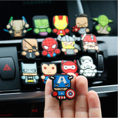 Auto Luftauslass Parfüm Clip kreative Cartoon Avengers Luftauslass Parfüm Clip weiß Luft Auslass Duft